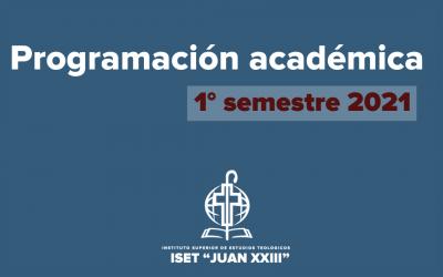 Programación 1° semestre 2021