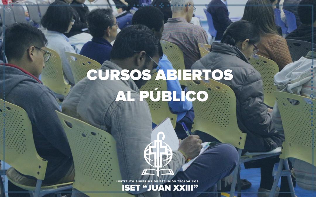 Cursos abiertos al público – primer semestre 2021