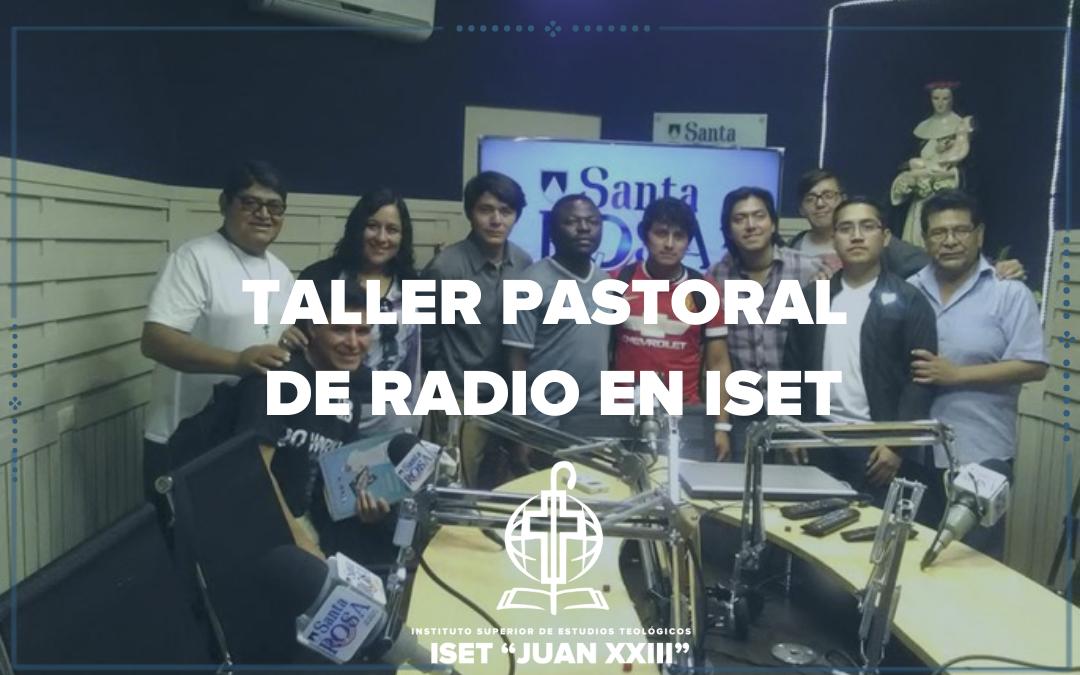 Taller pastoral de Radio en ISET